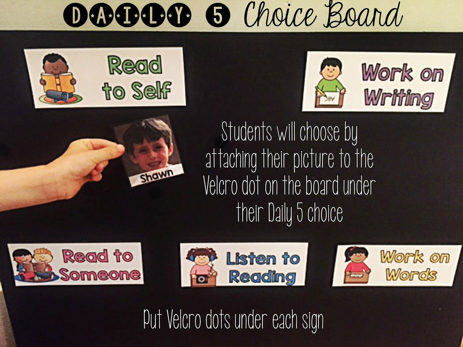 Daily 5 choice board